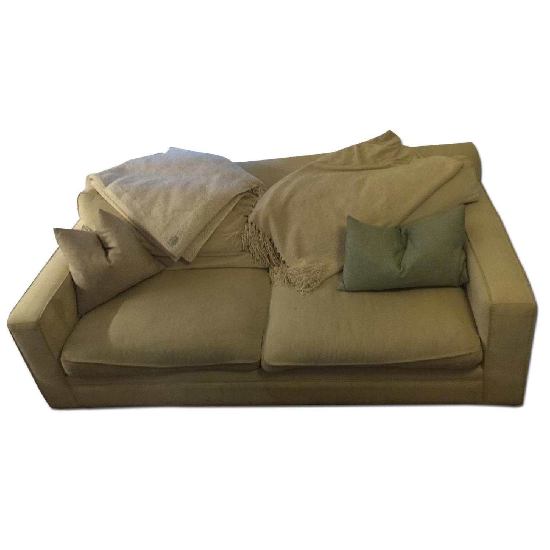 Crate & Barrel Sofa + Chair and  Half & Ottoman - image-0