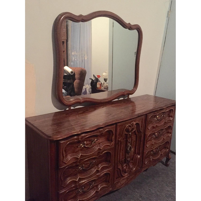 Antique Dresser w/ Mirror - image-1