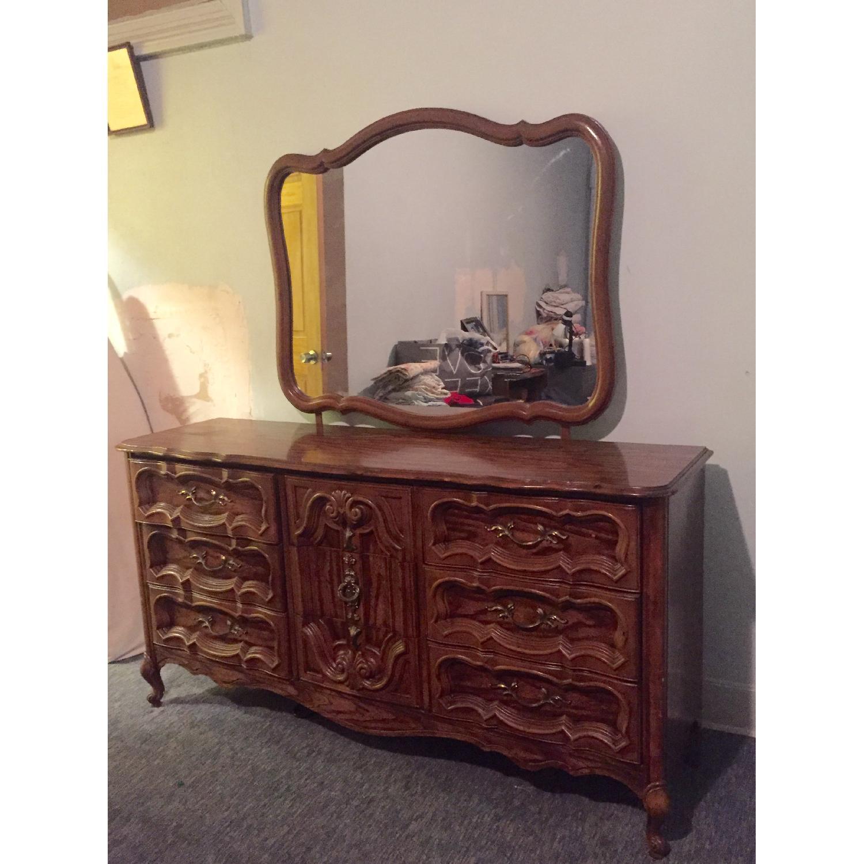 Antique Dresser w/ Mirror - image-2