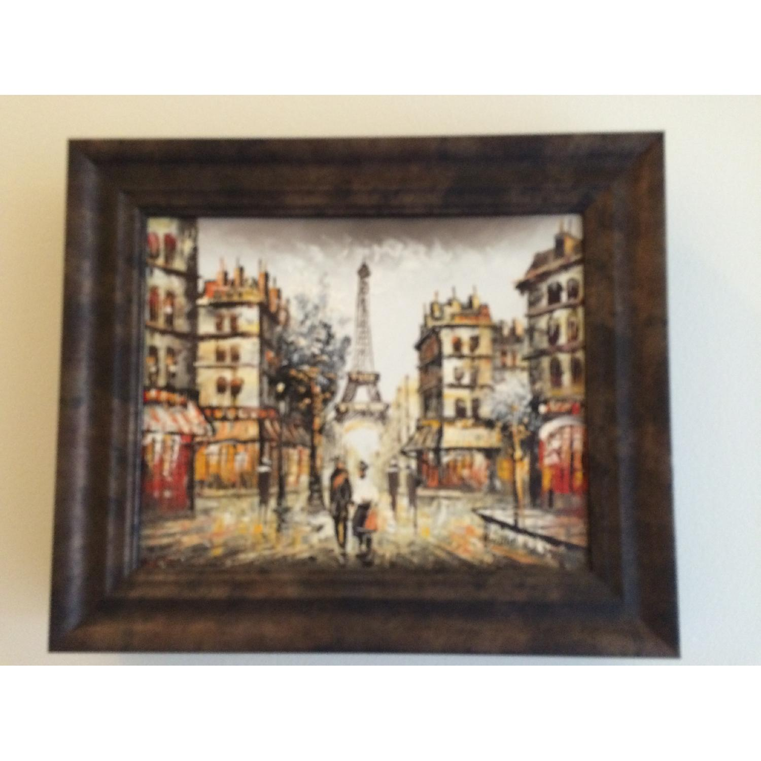 Framed Eiffel Tower Painting from Montmartre Paris - image-1