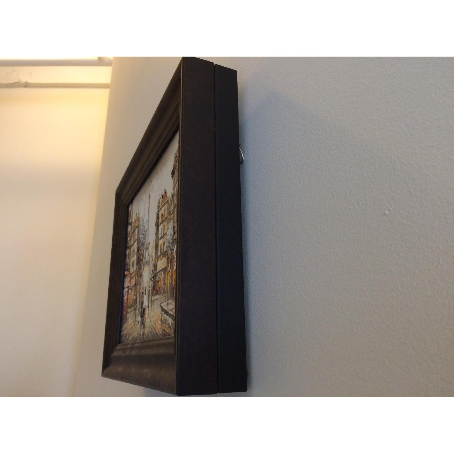 Framed Eiffel Tower Painting from Montmartre Paris - image-2
