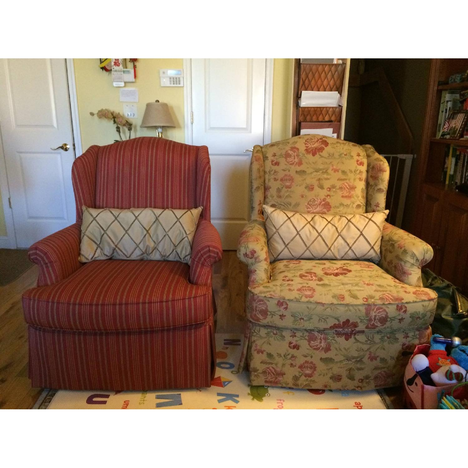 French Country Custom Upholstered Chairs - Pair - image-1