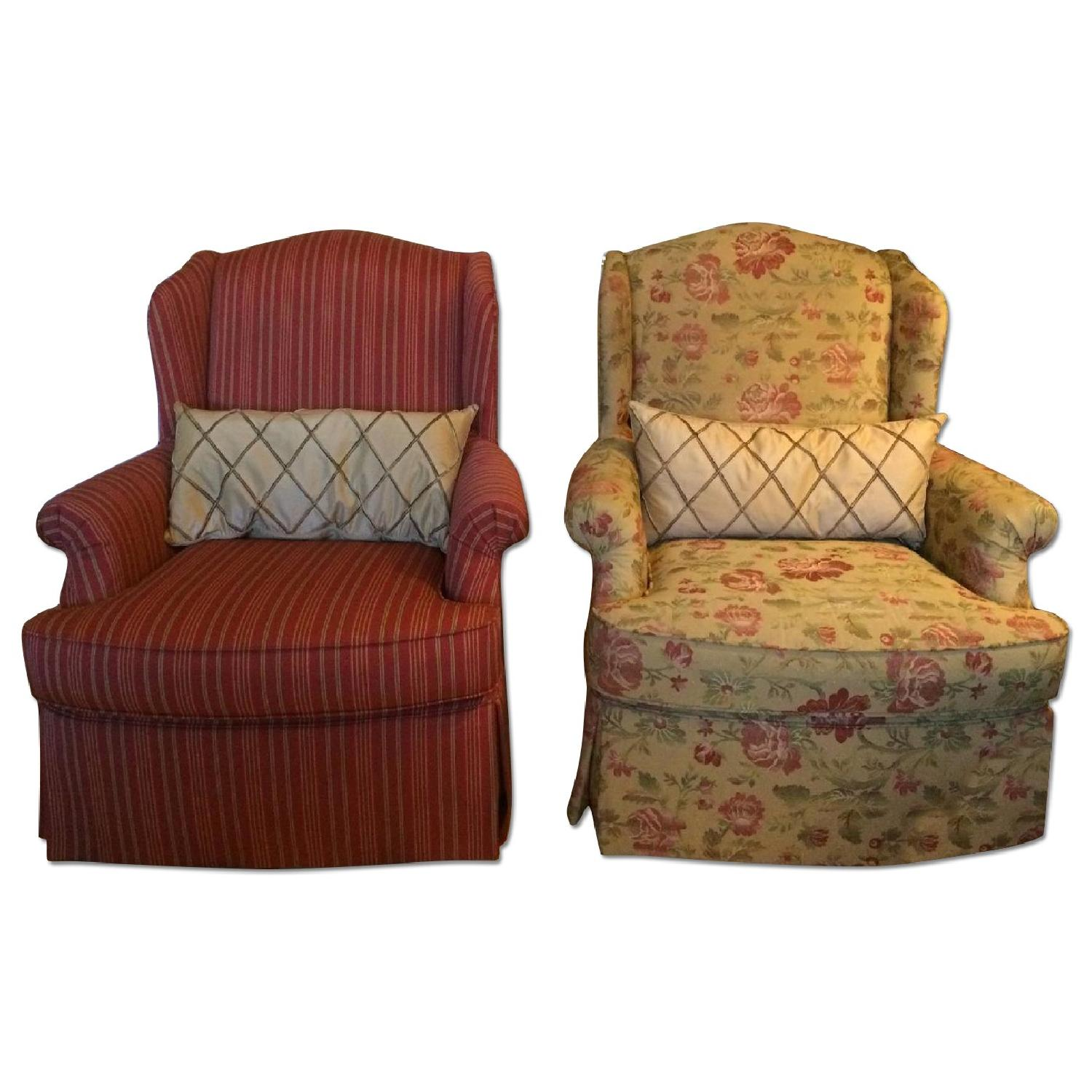 French Country Custom Upholstered Chairs - Pair - image-0