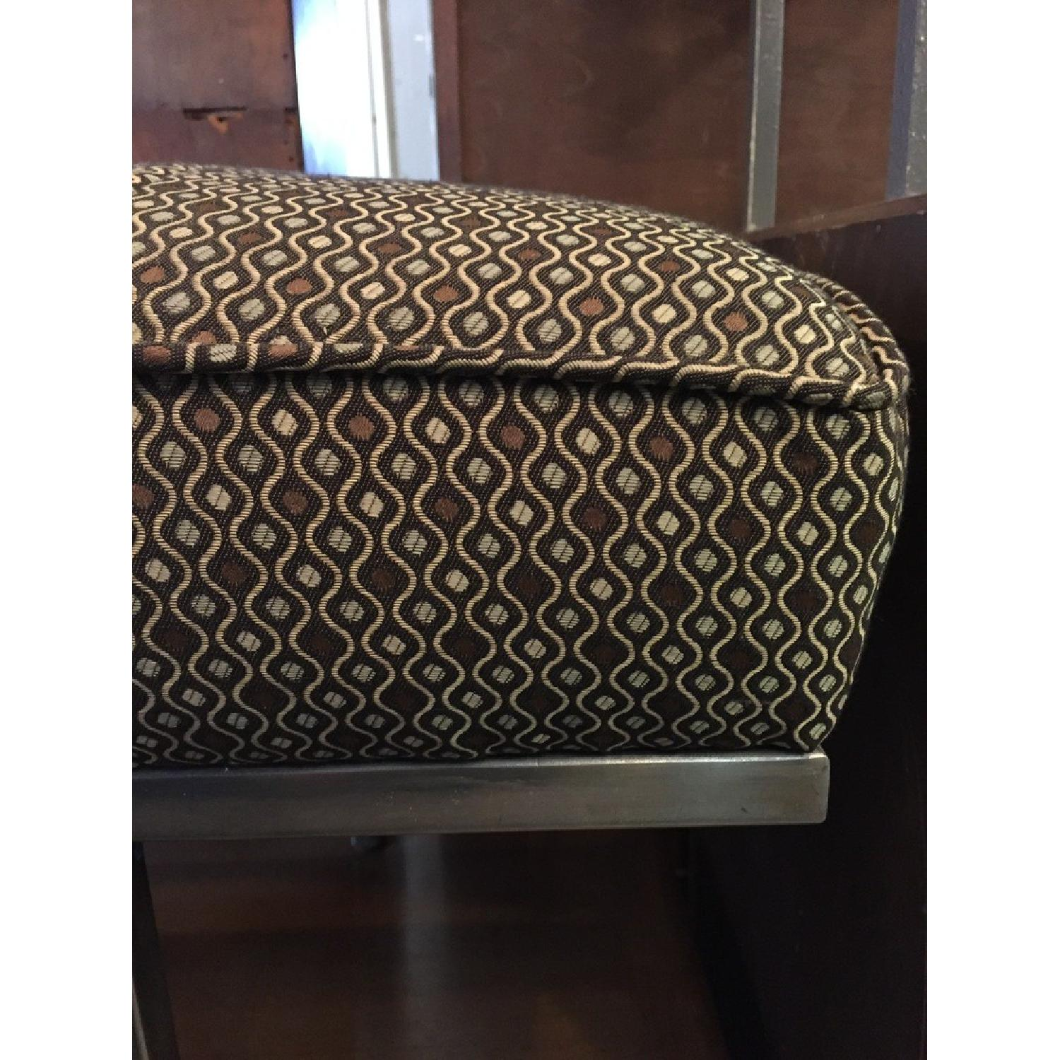 Knoll Style Mid Century Modern Chrome Bench - image-1