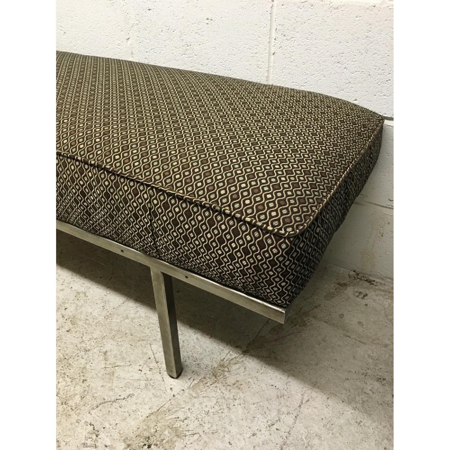 Knoll Style Mid Century Modern Chrome Bench - image-2