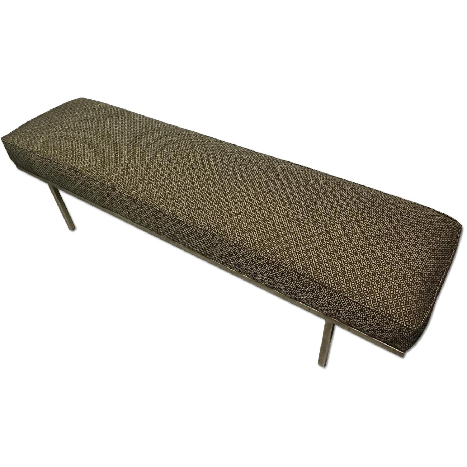 Knoll Style Mid Century Modern Chrome Bench - image-7