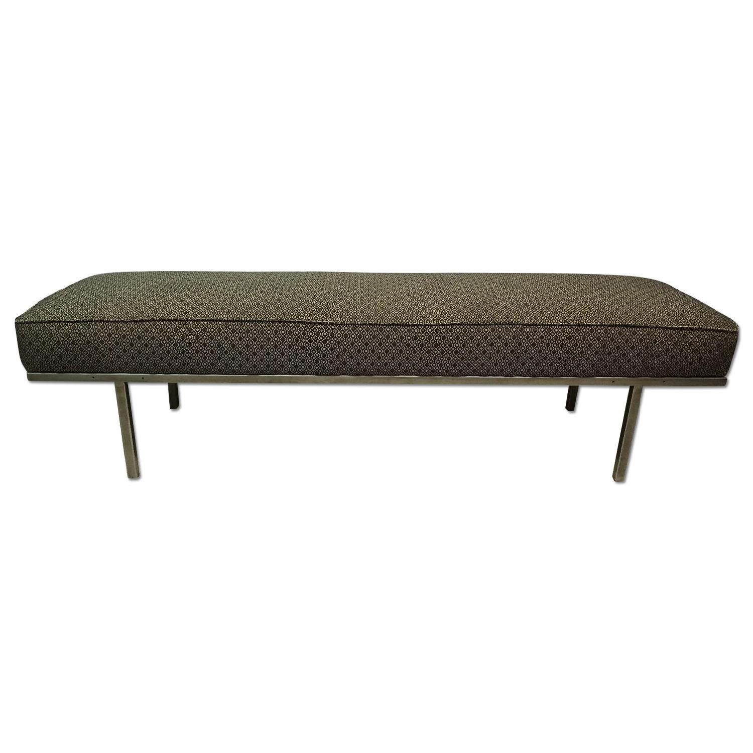 Knoll Style Mid Century Modern Chrome Bench - image-0