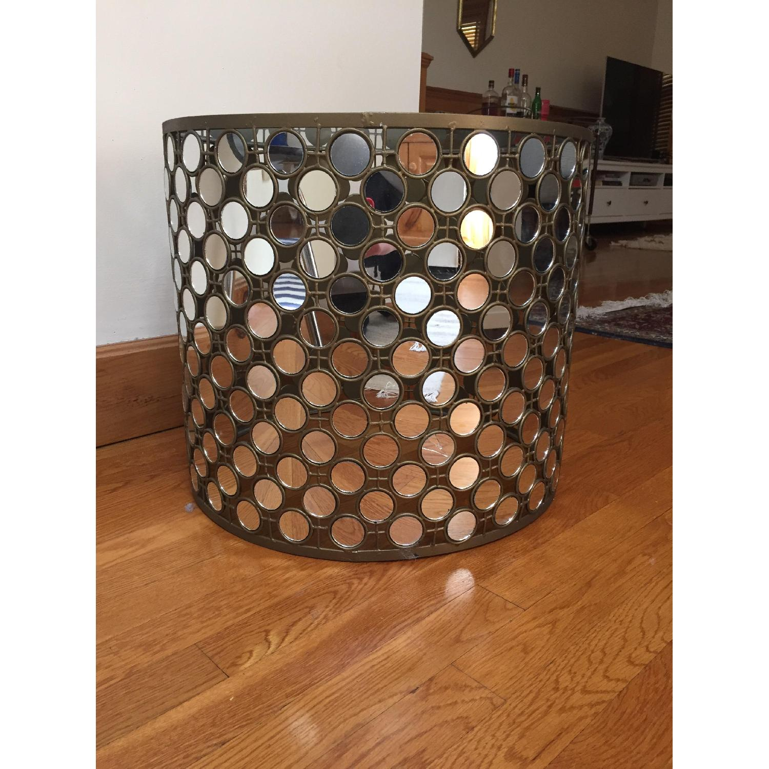 West Elm Mirrored Round Side Table - 2 Available - image-2