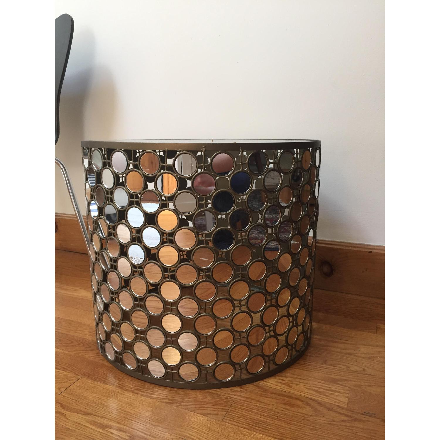 West Elm Mirrored Round Side Table - 2 Available - image-3