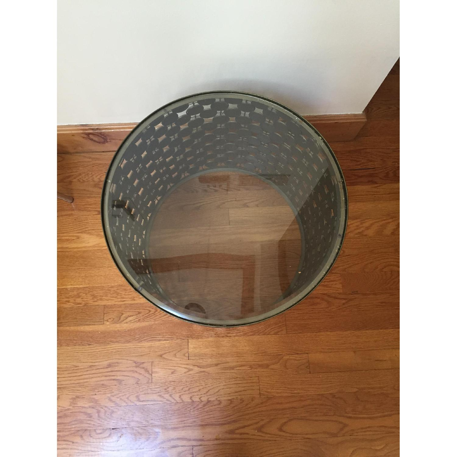 West Elm Mirrored Round Side Table - 2 Available - image-4