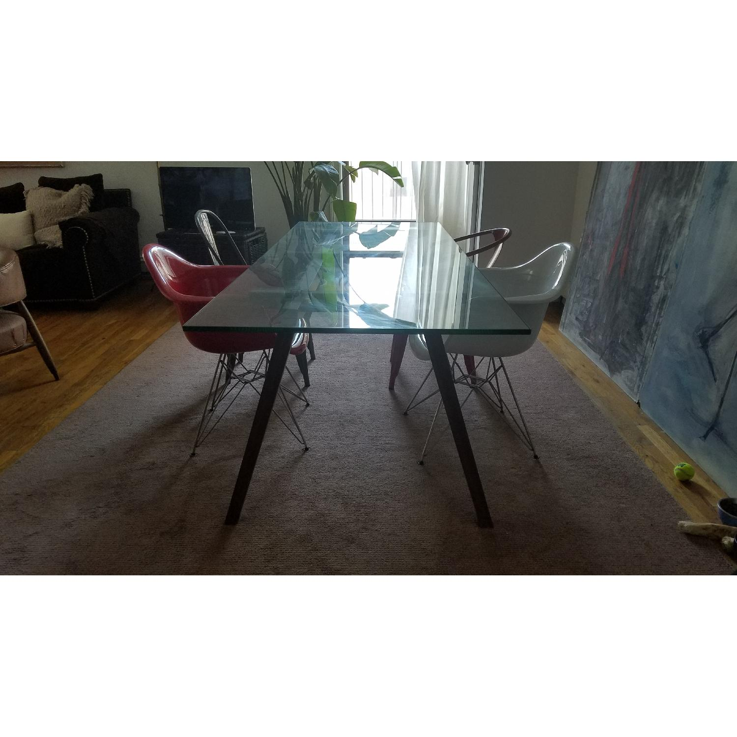 Modern Glass Top Dining Table - image-2