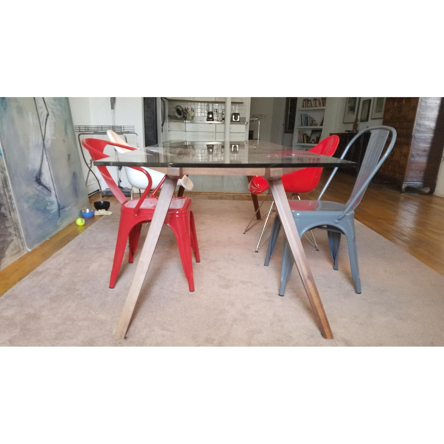 Modern Glass Top Dining Table - image-3