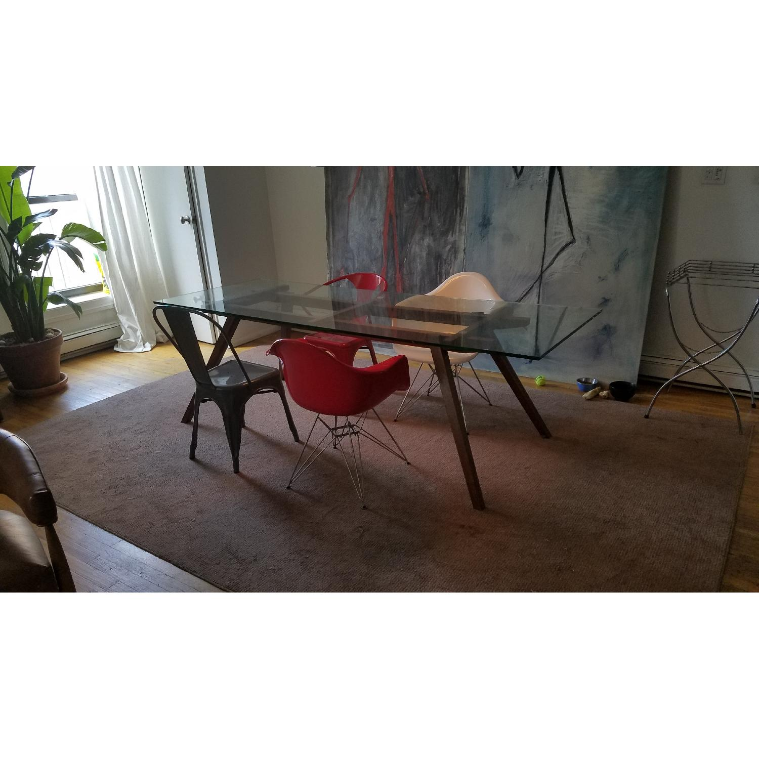 Modern Glass Top Dining Table - image-4