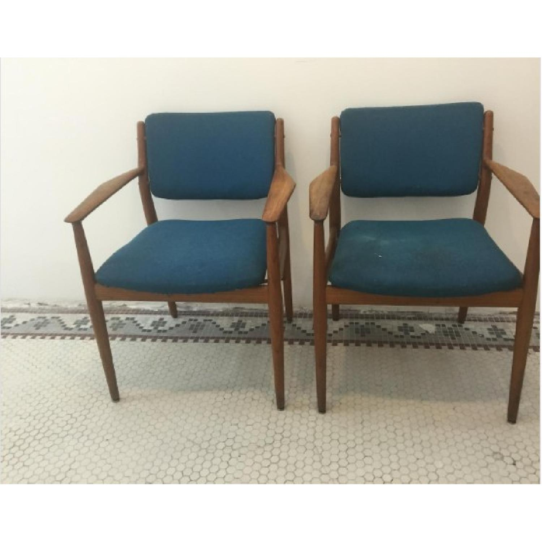 Danish Midcentury Arne Vodder Chairs - Pair - image-1