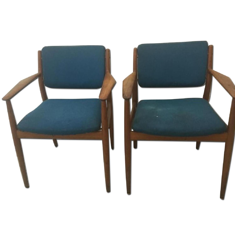 Danish Midcentury Arne Vodder Chairs - Pair - image-0