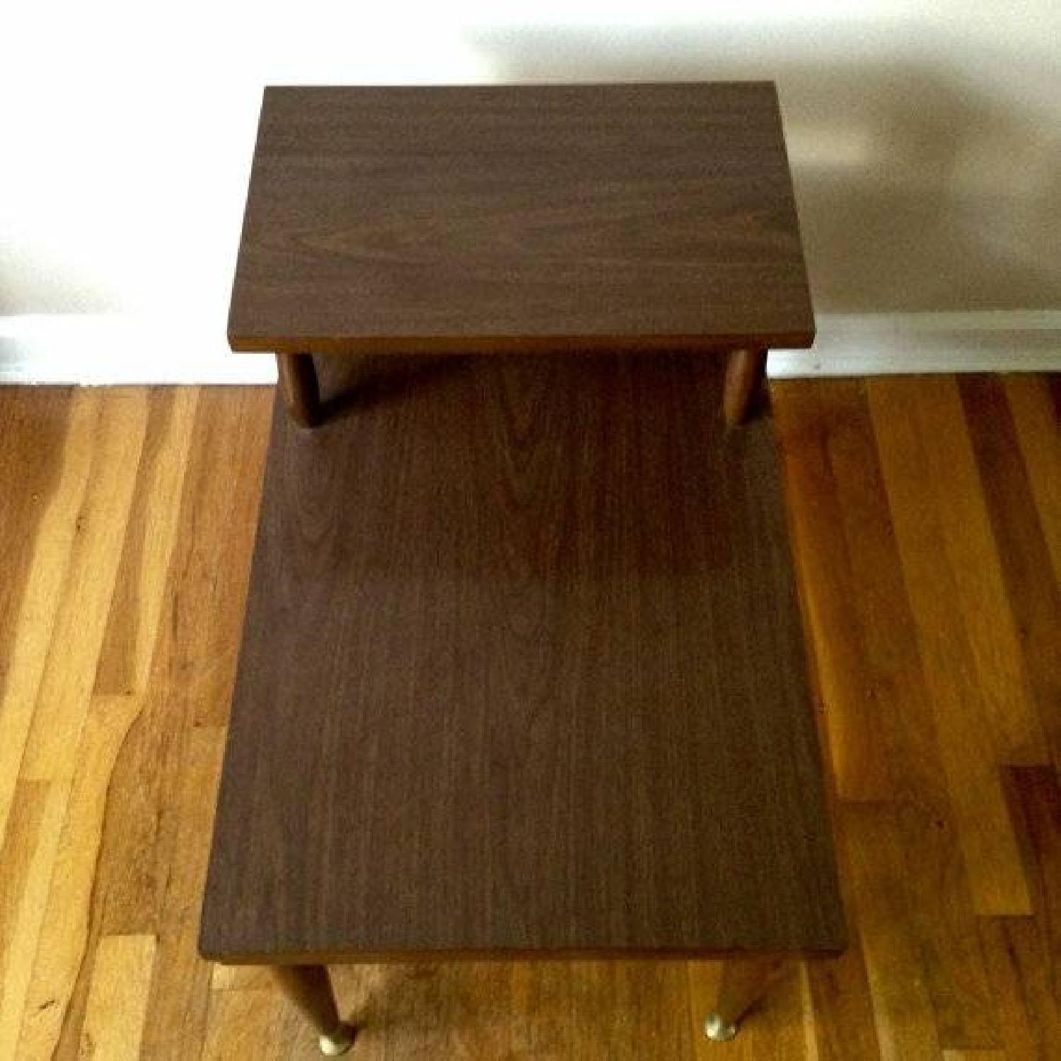 Mid Century Modern Step Side/End Tables - Pair - image-1