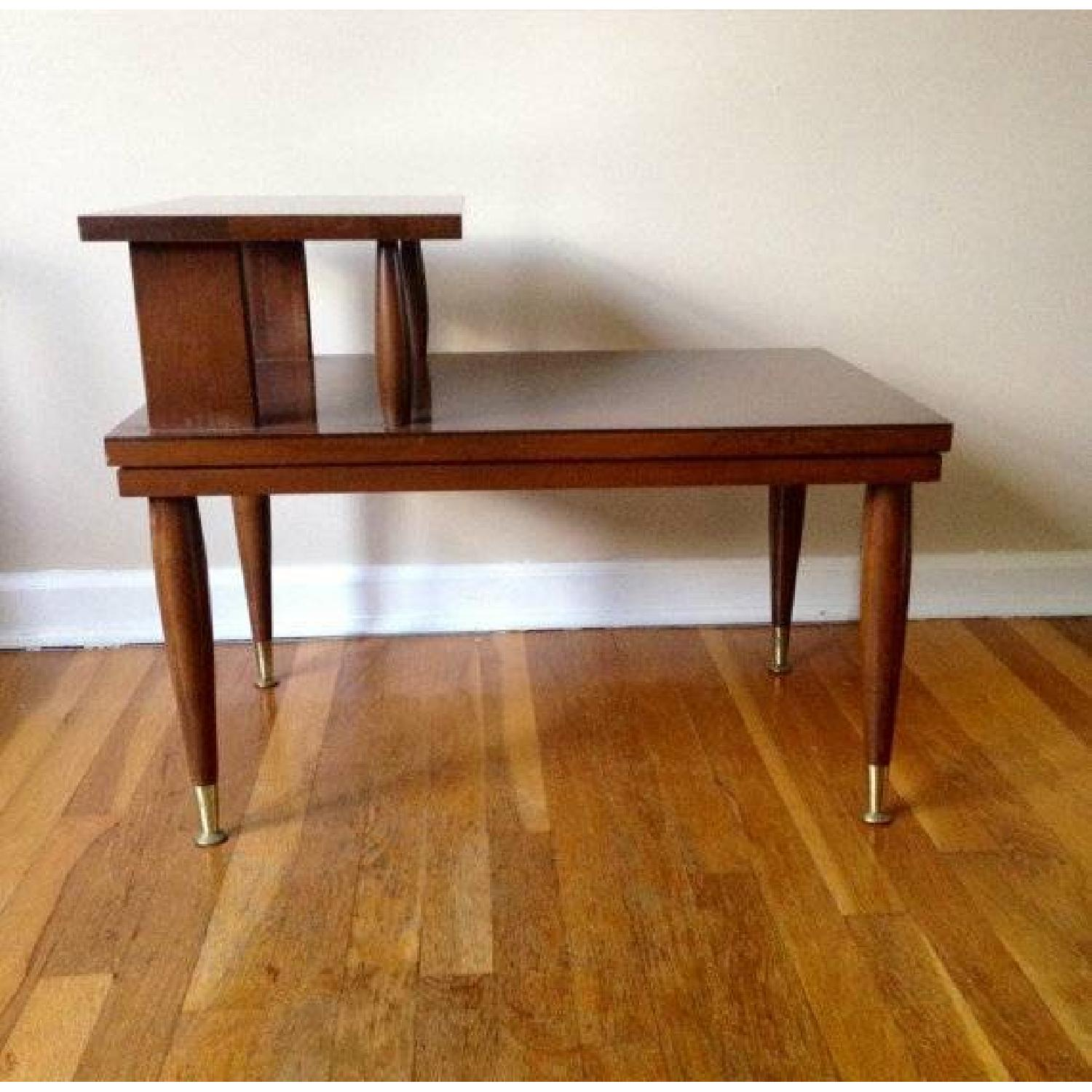 Mid Century Modern Step Side/End Tables - Pair - image-2