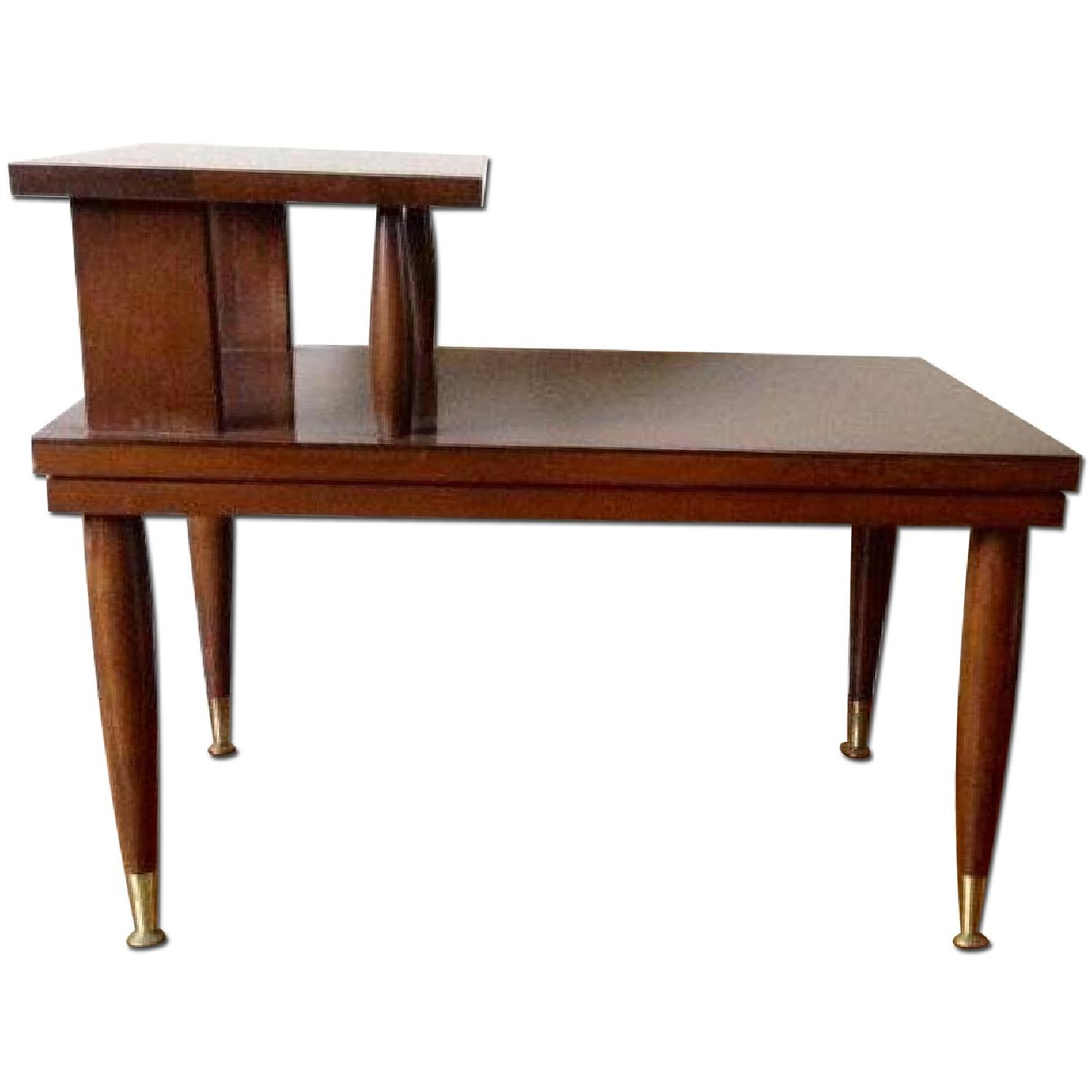 Mid Century Modern Step Side/End Tables - Pair - image-0