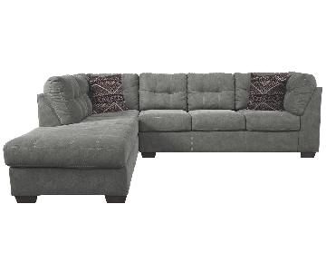 Raymour & Flanigan Desmond 2 Piece Sectional Sofa