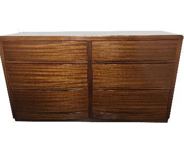 Deep Drawer Dresser in Golden Finish