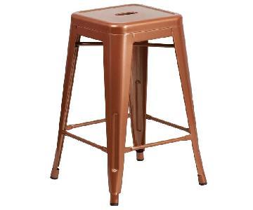 Trent Austin Design Lompoc Copper Bar Stools
