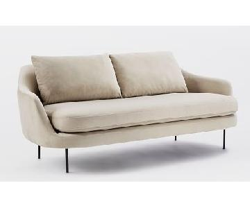 West Elm Esme Sofa in Stone Grey Suede