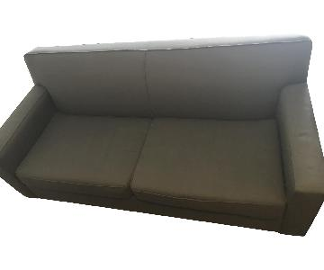 West Elm Sofa in Olive Grey
