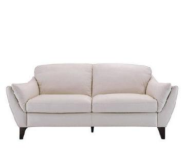 Natuzzi Italian Greccio Leather Sofa