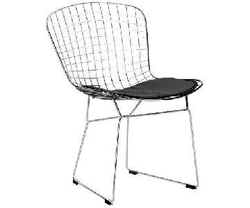 Bertoia-Style Metal Dining Chairs