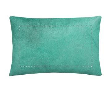 CB2 Pony Up Aqua Pillow