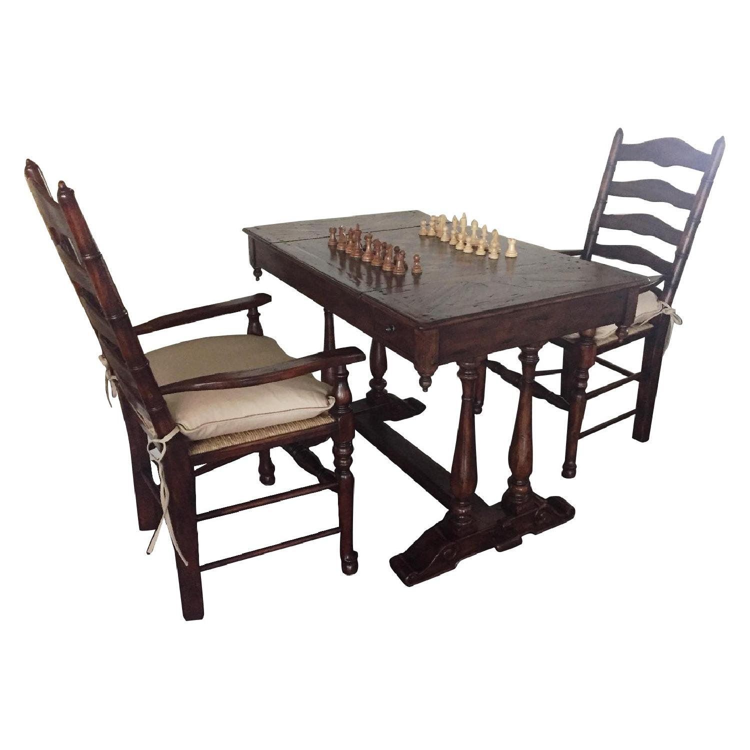 Theodore Alexander Country Cottage Games Table W 2 Chairs Aptdeco