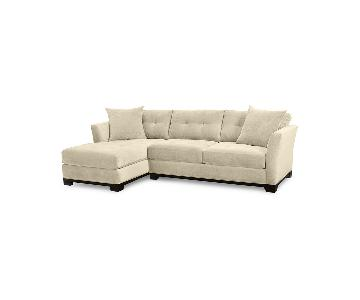 Macy's Elliot 2-Piece Beige Sectional Sofa