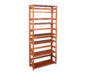 Regency Flip Flop High Folding Bookcase in Cherry