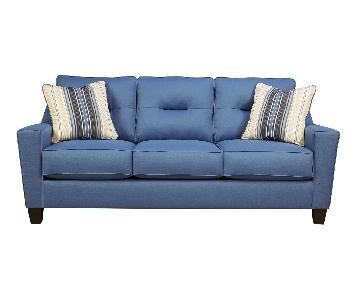 Andover Mills Huebert Blue Sofa