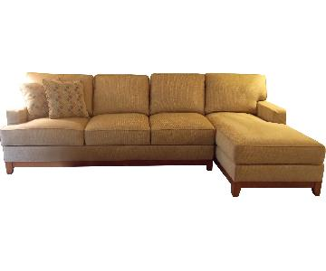 Ethan Allen 2-Piece Sectional Sofa w/ Chaise