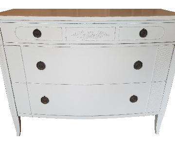 White Solid Hardwood Dresser
