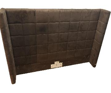 West Elm Brown Padded Queen Size Headboard