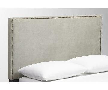 West Elm Nailhead Upholstered Queen Headboard