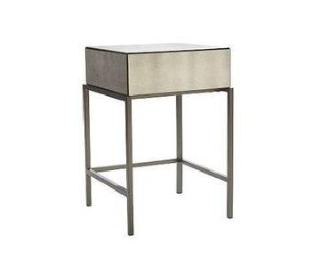 West Elm Foxed Mirrored Nightstand