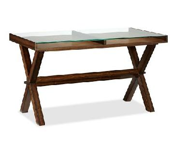 Pottery Barn Wood & Glass Ava Desk