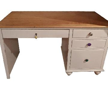 Country Wood Desk w/ Anthropologie Knobs