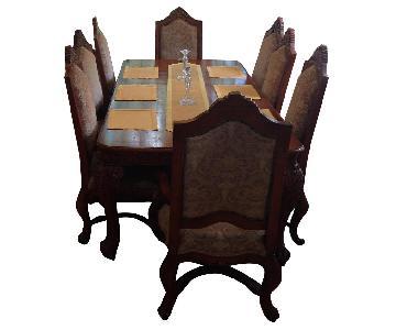 Huffman Koos Cortina Wood Dining Table w/ 8 Chairs