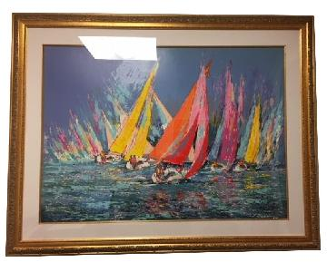 Rainbow Regatta Serigraph on Paper