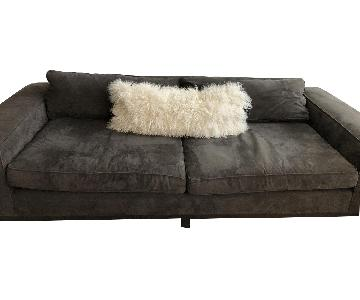 Crate & Barrel Dark Chocolate Sofa w/ Removable Pillows