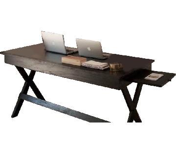 Vintage Wooden Black Desk