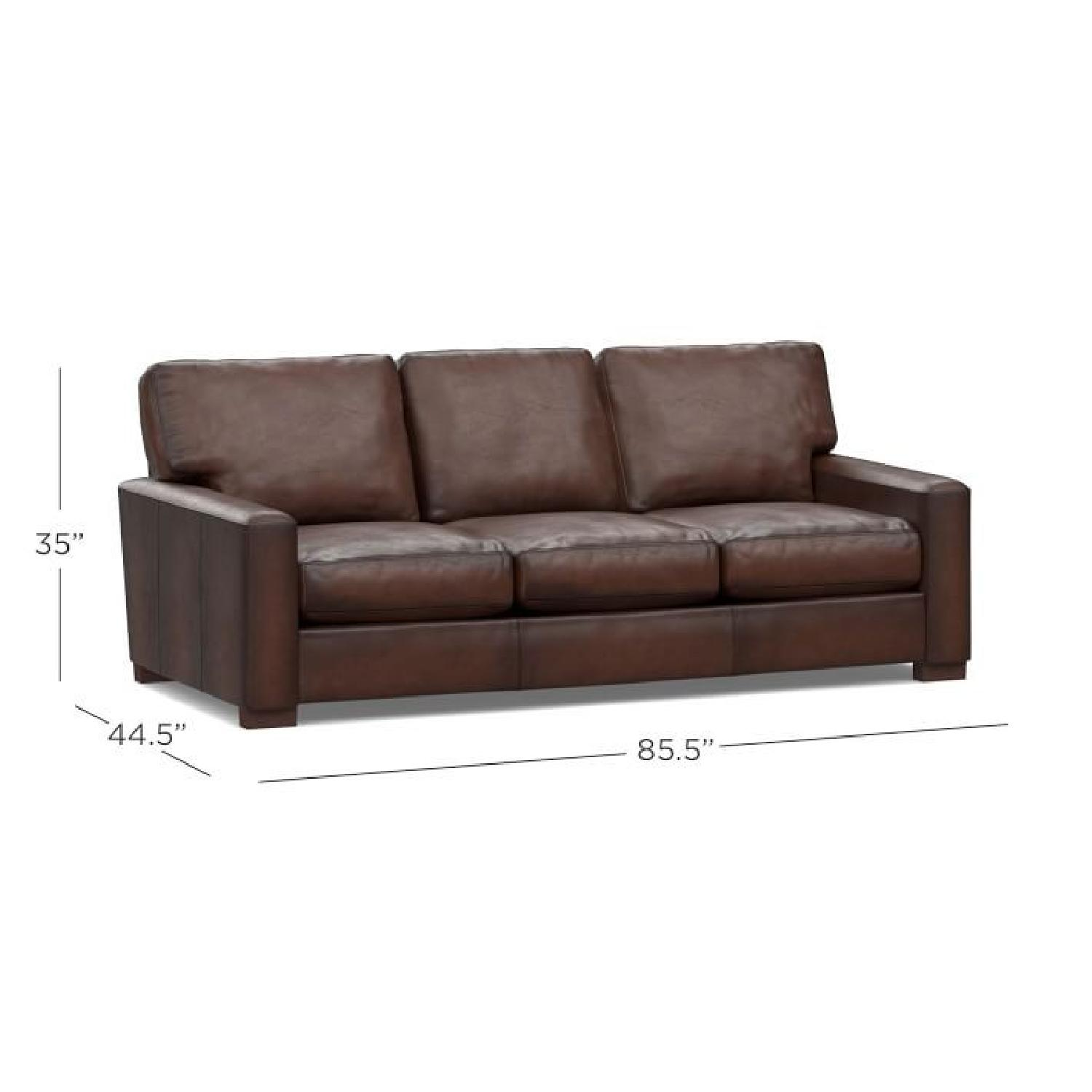 Pottery Barn Turner Leather Sofa Aptdeco