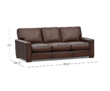 Pottery Barn Turner Leather Sofa