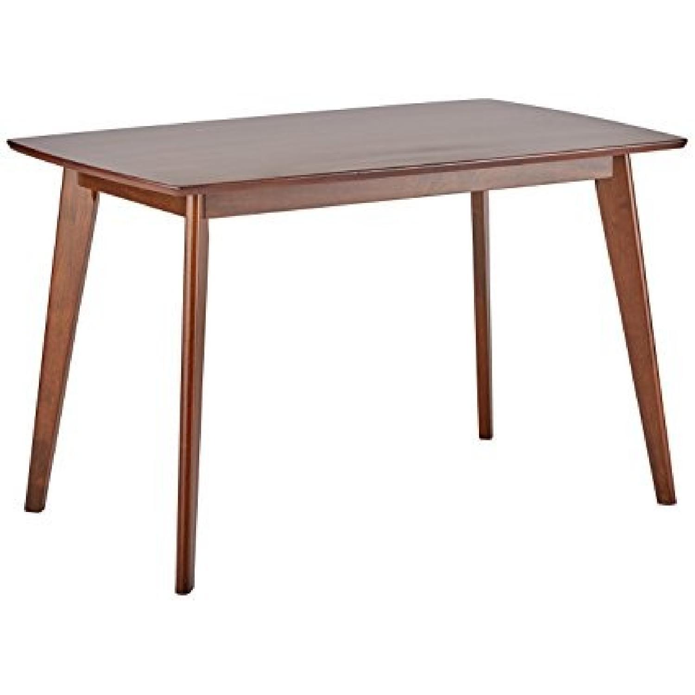Mid Century Style Dining Table in Walnut Finish