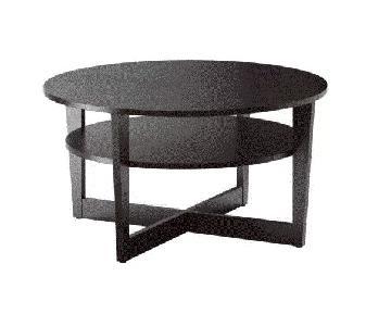 Ikea Vejmon Coffee Table in Black-Brown