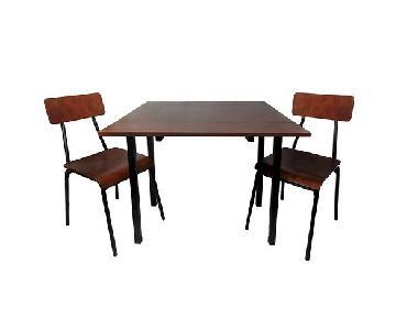 Target 3 Piece Brown Wood & Metal Dining Set